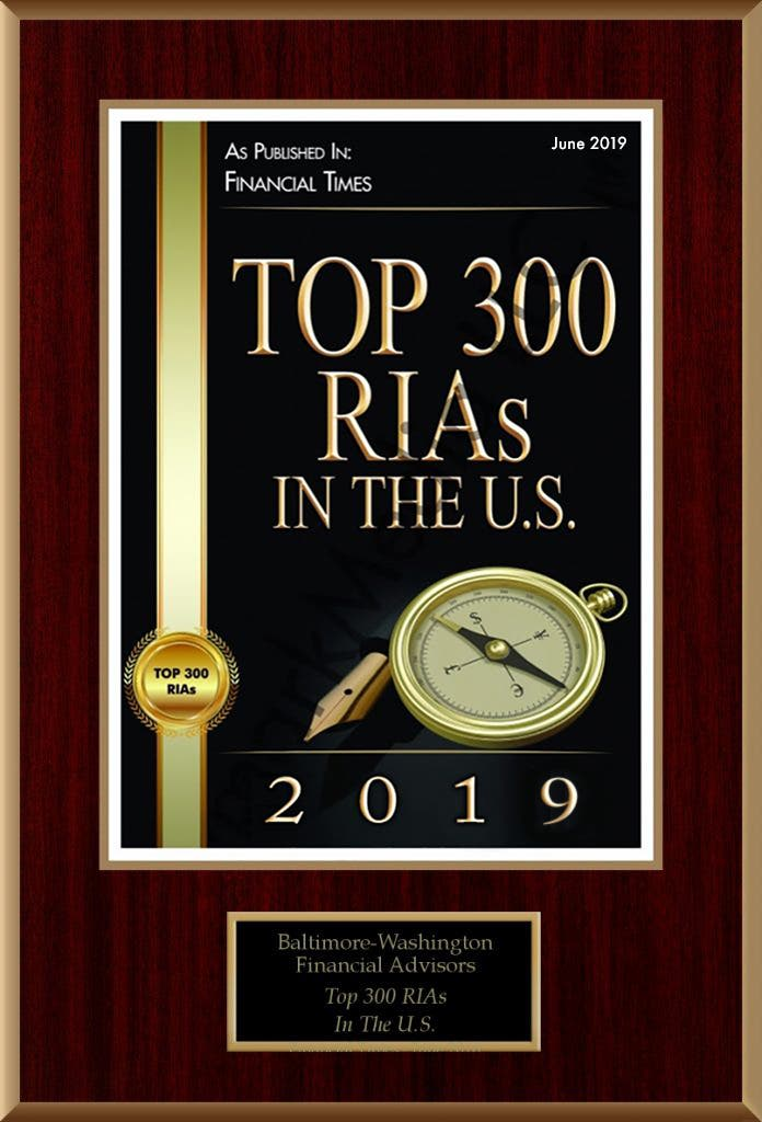 Top 300 RIAs in the U.S. 2019
