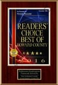 Readers' Choice Best of Howard County 2016