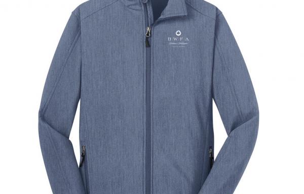 Port Authority Men's Navy Heather Core Soft Shell Jacket