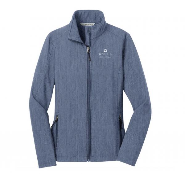 Port Authority Women's Navy Heather Core Soft Shell Jacket