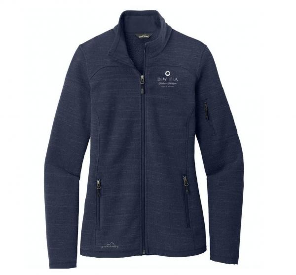 Eddie Bauer Women's River Blue Heather Sweater Fleece Full Zip