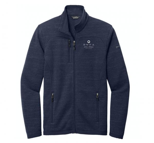 Eddie Bauer Men's River Blue Heather Sweater Fleece Full Zip