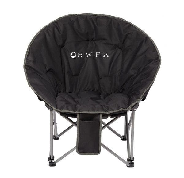 Leed's Black Folding Moon Chair