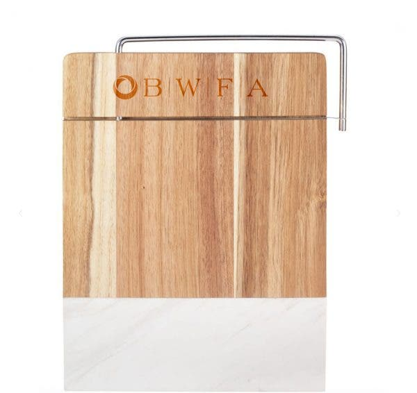 Leed's Marble and Acacia Wood Cheese Cutting Board