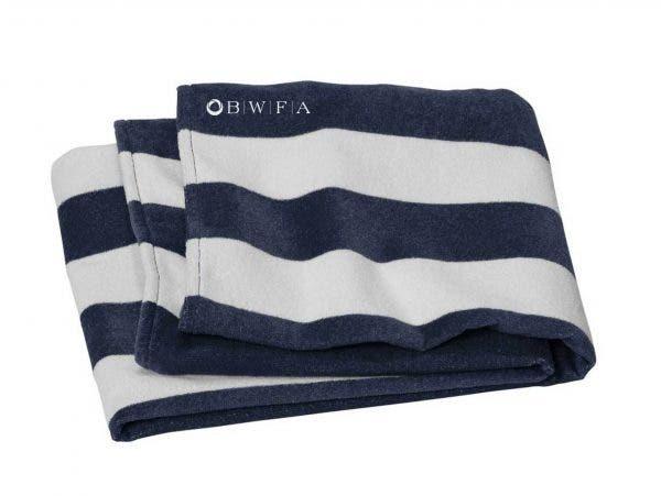 Port Authority Navy Cabana Stripe Beach Towel